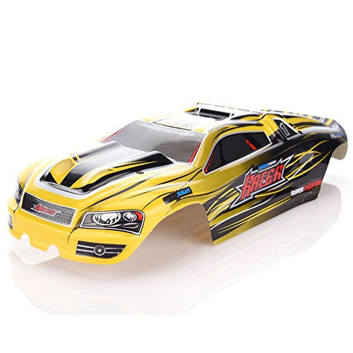 RC Car Part, Rundao 16-SJ01 RC Truck Body, Car Body Shell RC Car Spare Parts for Foxx S912/9116(Yellow))