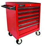 Homak   RD04062601 27-Inch Professional 6 Drawer Rolling Cabinet, Red