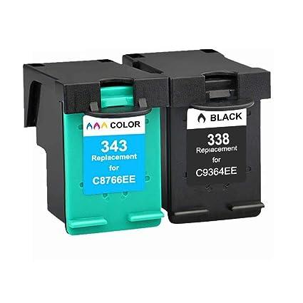 Karl Aiken 338XL 343XL - Cartucho Compatible con HP 338XL 343XL (1 ...