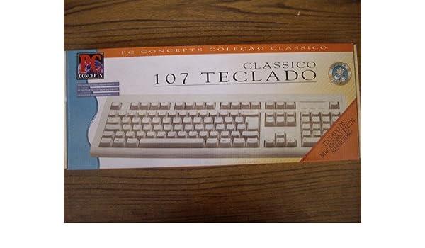 Amazon.com: Brazilian Portugese Keyboard Teclado Classico 107 Keys - PS/2 PC Computer Connector- Brazil: Computers & Accessories