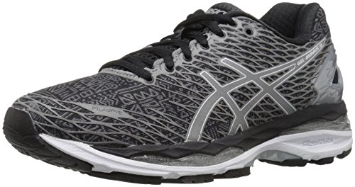 ASICS Women's Gel-Nimbus 18 Lite-Show running Shoe, Black/Silver/Shark, 6 M US