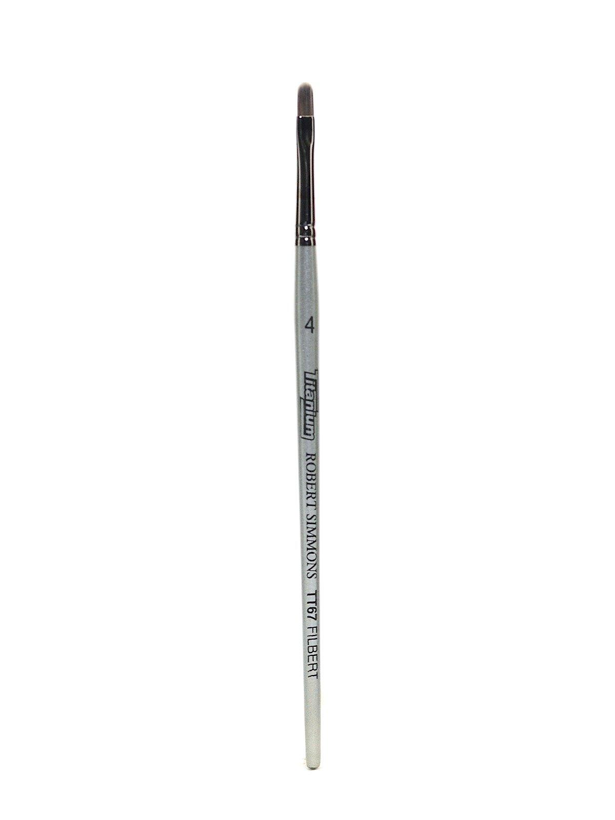 Robert Simmons Titanium Brushes Short Handle Single Stock 4 filbert TT67 [PACK OF 2 ]