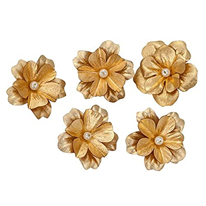 Buy Siri Creations Gold Foil Small Hibiscus Flowers 0515 Inches