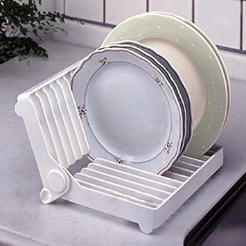 soporte de almacenamiento de pl/ástico para almacenamiento de cocina 1 unidad As Picture Show plegable marco de drenaje Escurreplatos plegable de resina