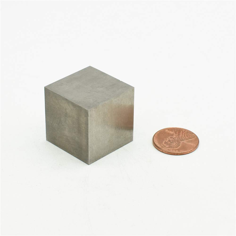 Pure Tungsten Cube 25mm Large Block About 1'' 99.9% Heavy Metal by HMME