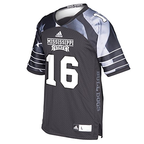 (adidas NCAA Mississippi State Bulldogs Men's Replica Football Jersey, Large, Gray)