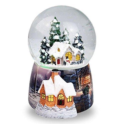 Fytoo Boule de Verre Maison de Neige de Noël Jukebox Boîte à Musique Rotation Automatique de Neige Décoré Cadeaux d'Anniversaire pour Enfants et Filles Beaux Cadeaux de Noël Chine