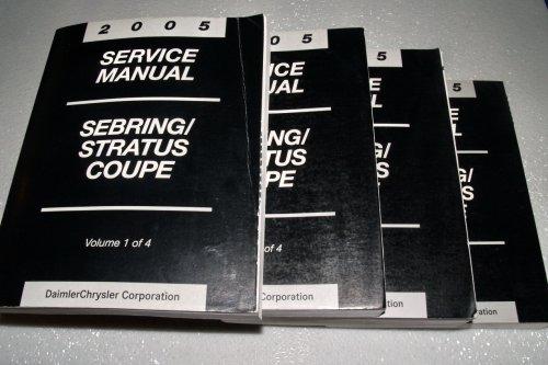 2005 Chrysler Sebring / Dodge Stratus Coupe Service Manuals (4 Volume Complete Set)