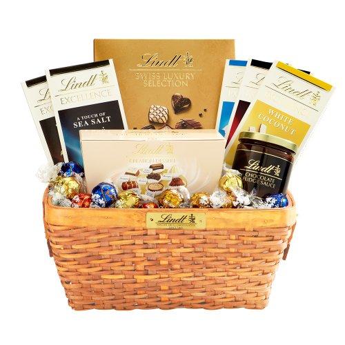 Lindt's Deluxe Sampler Gift Basket