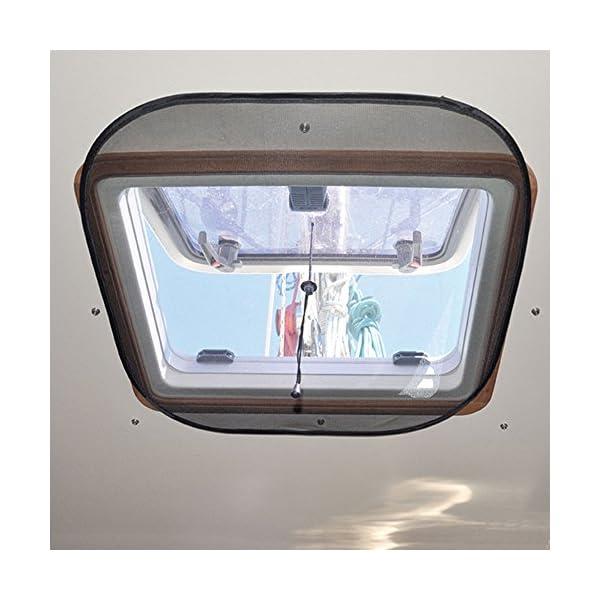 51P9zyBh6aL Waterline Design MOSKITONETZ Fliegengitter Insektenschutz für Boote – Innenmontage mit Magnet oder Saugnapf…