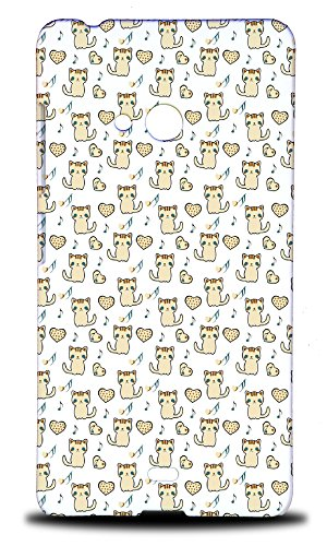Foxercases Design Feline Kitten Cat Love Pattern Hard Back Case Cover for Nokia Lumia 540