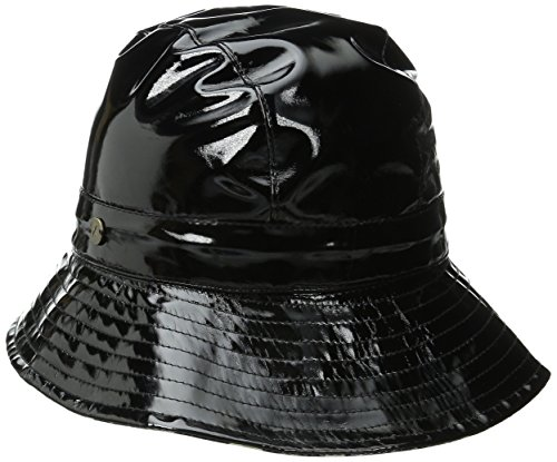 karen-kane-womens-patent-rain-trilby-hat-black-grey-leopard-one-size