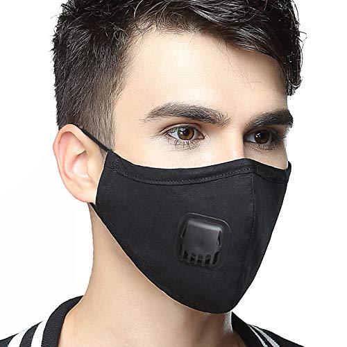 AVIGOR Anti Pollution Military Grade N99 Dust Mask Washable Cotton Masks With Adjustable Straps(Black)
