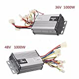 scooter 1000W 36V/48V Electric Speed Controller Motor Brush For Vehicle Bicycle (36V1000W)