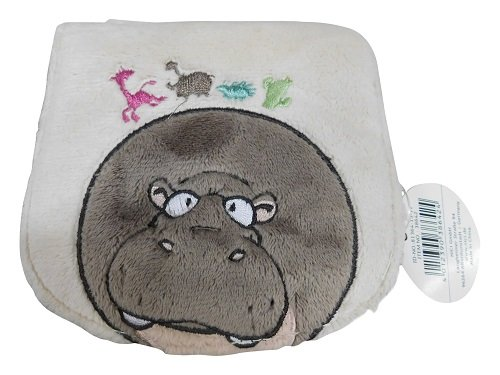Separate Coin and Note Sections Zip 13/x 11/cm Nici 38642/Hippo Plush Purse with 3/Card Slots