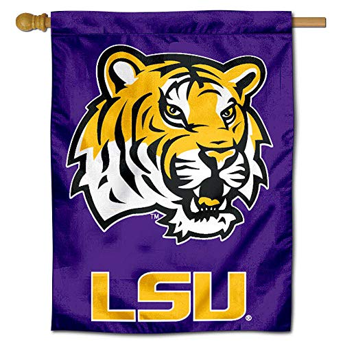 (College Flags and Banners Co. Louisiana State University Tigers House Flag)