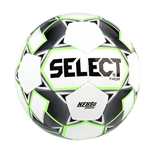 (Select Thor Soccer Ball, White/Black/Green, Size 5)