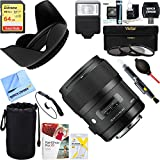 Sigma Art Wide-angle lens AF 35mm F1.4 DG DG HSM Lens for Nikon (340306) + 64GB Ultimate Filter & Flash Photography Bundle