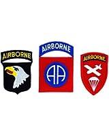 Lot de 3 patch ecusson armée militaire airborne americain usa us marines
