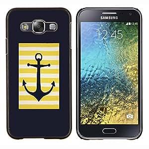 Stuss Case / Funda Carcasa protectora - Marinero del ancla Minimalista Negro - Samsung Galaxy E5 E500