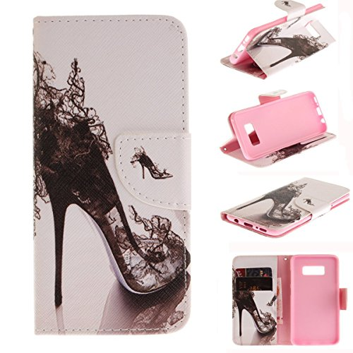 Judy Shoes (Maoerdo Galaxy Note 8 Case, [High-heeled shoes][Kickstand Feature][Money Card Slot] [Double Sided Design] Premium Soft TPU Synthetic Leather Wallet Filp Case Cover For Samsung Galaxy Note 8)