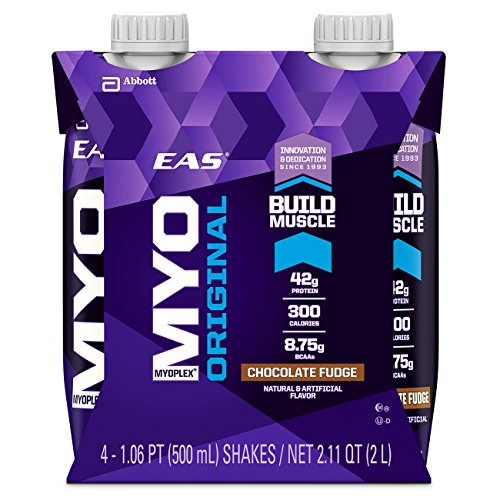 EAS Myoplex Original Build Muscle Shakes Chocolate Fudge - 4 CT