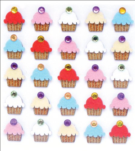 Jolee's Boutique Dimensional Stickers, Cupcakes