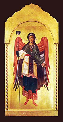 Archangel Gabriel Florentine Plaque, 21x45 inches. Made in Italy. by GSV001