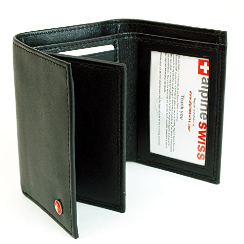 RFID Blocking Mens Leather Extra Capacity Trifold Wallet Black - Stops Electronic Pick Pocketing Works Against Identity Theft & Credit Card Data Breach by Stopping RFID Scans.