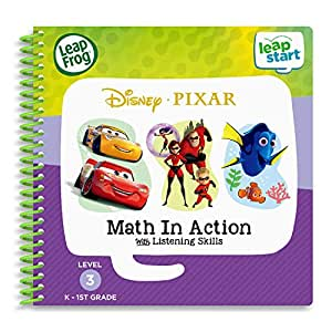 LeapFrog Leapstart 3D Disney Pixar Pals Math in Action Book