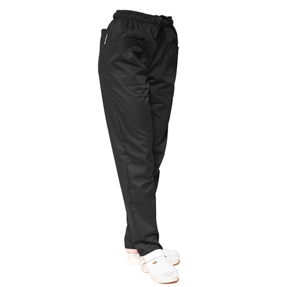 TCD GROUP TRENDY LINE Pantalone da lavoro pantalaccio con elastico (S, BIANCO) OP153C/T