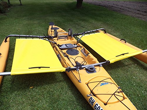 Hobie Kayak Trampoline Adventure Tandem Kayak Side yellow - front shield not incl by Canoe