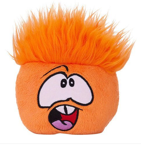 Disney Club Penguin 4 Inch Series 5 Plush Puffle Orange Includes Coin with Code!