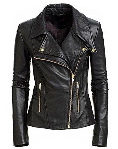 Ladies Leather Biker Style Jackets - 4