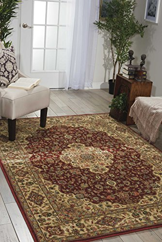 - Nourison Persian Arts (BD02) Brick Rectangle Area Rug, 3-Feet 6-Inches by 5-Feet 6-Inches (3'6
