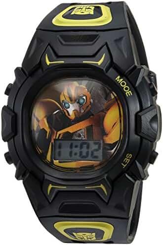 Hasbro Boy's Quartz Plastic Casual Watch, Color:Black (Model: TF2003)