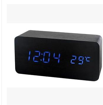 pengweiReloj de madera creativas dual electrónico reloj led digital madera mudo niño Reloj despertador por mayor , 3: Amazon.es: Hogar