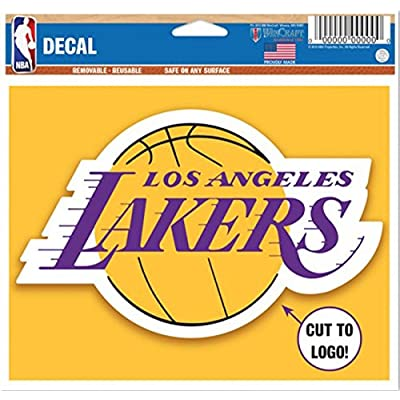 LA Lakers Decals - Removable and Reusable Basketball Sticker : Office Products