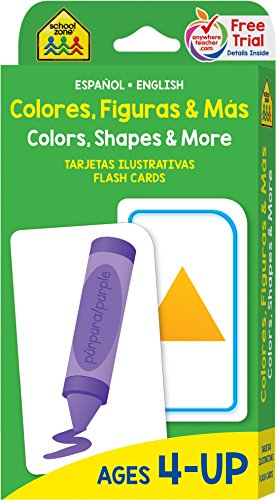 Colors, Shapes and More Flash Cards - Bilingual (Spanish Edition)