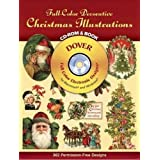 Full-Color Decorative Christmas Illustrations CD-ROM and Book