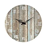 Hamptons Collection Wooden Roman Numeral Outdoor Wall Clock.