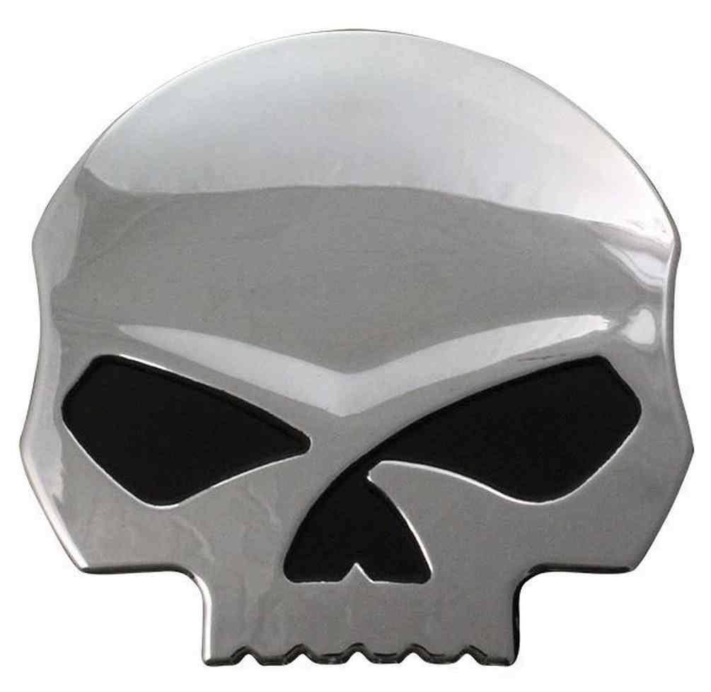 Harley-Davidson Willie G Skull Chrome Finish Hard Plastic Decal DC1199062