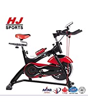 Spin Bike With Monitor Exercise Bike Indoor Ultra Silent Belt Drive Cardio Workout Machine Upright Bike Home Gym 330 Lbs Max