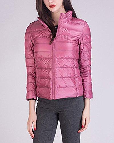 Packable Cappotto Giacca Leggeri Trapuntato Corto Inverno 2 Piumino Giacche Donna Pink 4wIYqpP