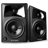 M-Audio AV 42, Casse Monitor Attive da Scrivania Biamplificate con Audio di Qualità, Ottimi per Film, Gaming, Musica e Produzione Multimediale, Coppia