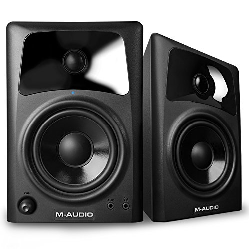 (M-Audio AV42 | 20-Watt Compact Studio Monitor Speakers with 4-inch Woofer (Pair))