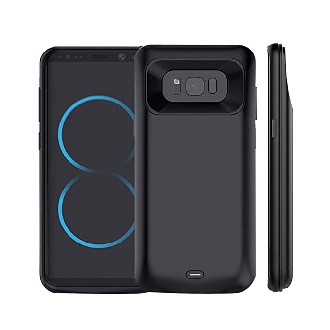 check out 92a2f 2f486 Idealforce Galaxy S8 Plus Battery Case,5500mAh External Power Bank Cover  Portable Charger Case for 6.2 Inch Samsung Galaxy S8 Plus (Black)