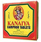 Camphor Tablets from India - 200 grams - 64 tablets (16 blocks of 4) - Kanaiya Brand