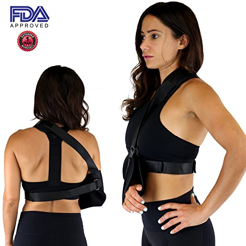 Everyday Medical Adjustable Arm Sling Support for Womens/Mens Shoulder Immobilizer with Adjustable Split Strap Neoprene Arm Sling Good for Treats Injured Arm, Wrist, Elbow, Shoulder, Etc by Everyday Medical