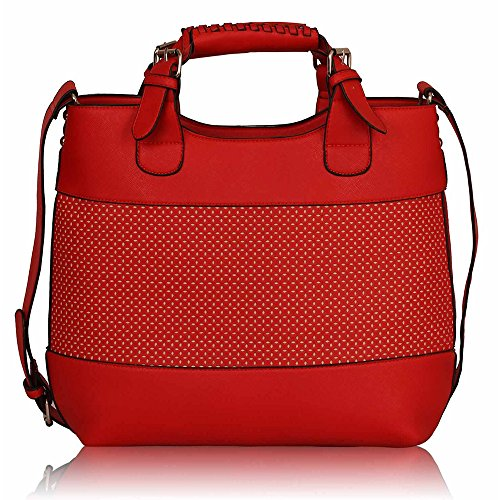 TrendStar - Bolso al hombro para mujer Rojo - rojo